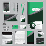 White identity template with origami elements. Vector company st Stock Photo