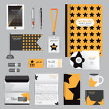 White identity template with origami elements. Vector company st Royalty Free Stock Image