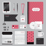 White identity template with origami elements. Vector company style for brandbook guideline and Pens mugs CDs books business cards Stock Photo