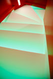 White illuminated steps Stock Photos