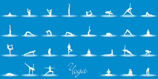Different yoga positions Royalty Free Stock Photos
