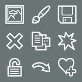 White image viewer web icons 2 Stock Photos