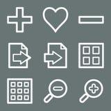White image viewer web icons Stock Image