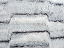 White Imitation or Faux Fur Stock Photo
