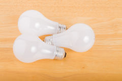 White Incandescent Lightbulbs Royalty Free Stock Photography