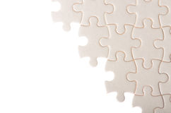 White incomplete jigsaw puzzle Stock Photography