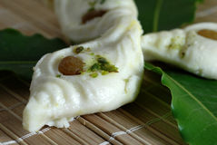 White Indian Sweets made from milk Stock Image