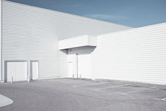 White industrial architecture Stock Photos