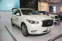 White infiniti jx35 car Stock Photography
