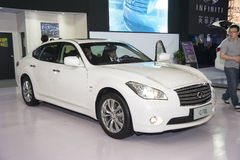 White infiniti q70l car Stock Photography