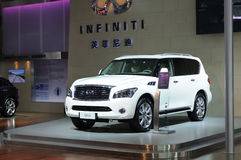 White infiniti qx56 suv Royalty Free Stock Image
