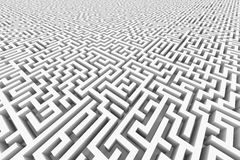 White infinity maze. Royalty Free Stock Photography
