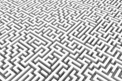 White infinity maze. Royalty Free Stock Photos