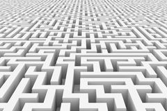 White infinity maze. Computer generated image Royalty Free Stock Photo