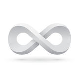 White infinity symbol Royalty Free Stock Photos