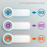 White info graphic with numbers, signs and icons i Stock Photos