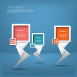 White infographic elements with modern arrows. Suitable for infographics, web layout, presentations, etc Stock Photo