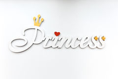 White inscription Princess. Stock Images