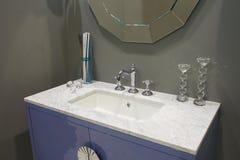 White inset washbasin Royalty Free Stock Images