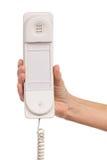 White intercom handset Stock Photo