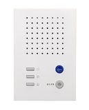 White intercom system isolated Stock Photos