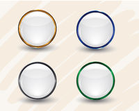 White Interface Icons Stock Images