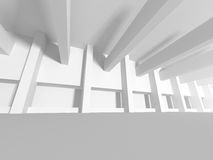 White Interior Background. Abstract Architecture. 3d Render Illustration vector illustration
