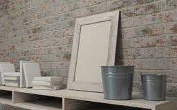 White interior bookshelf Royalty Free Stock Image