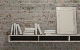 White interior bookshelf Royalty Free Stock Photo