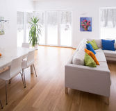 White interior with color elements Stock Images