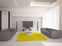 White interior composition Royalty Free Stock Images