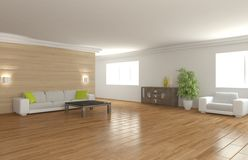 White interior concept for living room Royalty Free Stock Photo