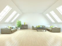 White interior concept for living room Stock Image