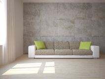 White interior concept for living room Stock Photography