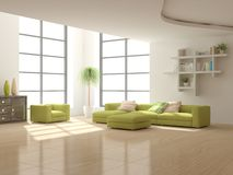 White interior concept for living room Royalty Free Stock Photography