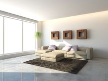 White interior concept for living room Royalty Free Stock Images