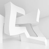 White Interior Design. Abstract Architecture Background. White Interior Design, 3d Illustration Royalty Free Stock Photos