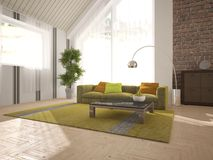 White interior design of living room Stock Photography