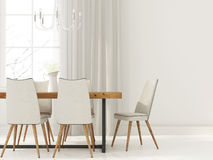 White interior  of dining room Royalty Free Stock Photography