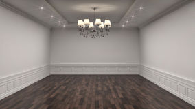 White interior with lamp. 3d illustration Stock Photo
