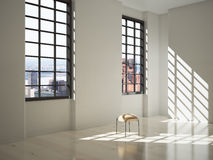 White interior with sunlight Stock Photo