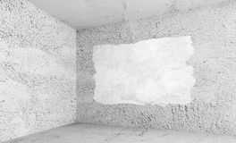 White interior with white paint covering Stock Image