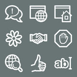 White internet web icons Royalty Free Stock Photos