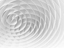 White intersected 3d spirals, abstract digital illustration Royalty Free Stock Photo