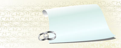 White invitation Royalty Free Stock Photography