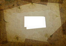 White invitation on the grunge background Royalty Free Stock Photo