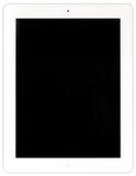 White iPad tablet. White iPad isolated on white Stock Image