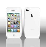 White IPhone 4S. The latest generation iphone , highly popular around the world Royalty Free Stock Images
