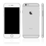 White iPhone. Vector of white smartphone iPhone Stock Images