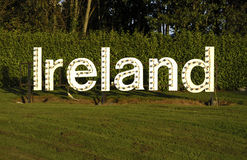 White ireland sign Royalty Free Stock Photo
